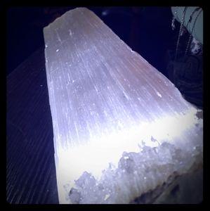 Very large raw selenite crystal
